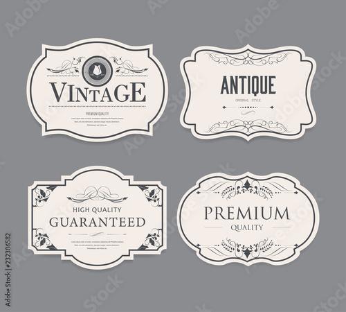 Set of vintage label design.