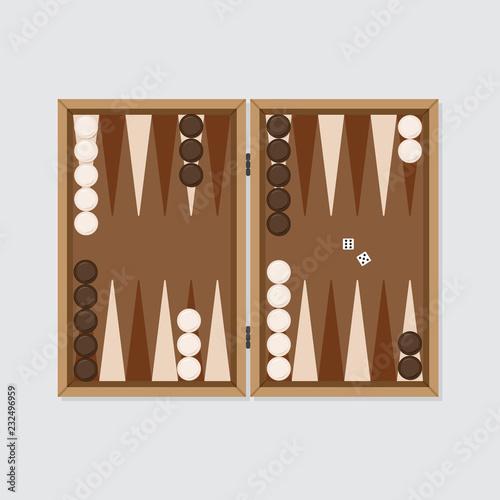 Murais de parede Backgammon board vector for posters