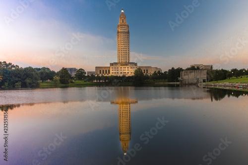 Fotografie, Obraz Louisiana State Capitol, Baton Rouge, Louisiana at dusk