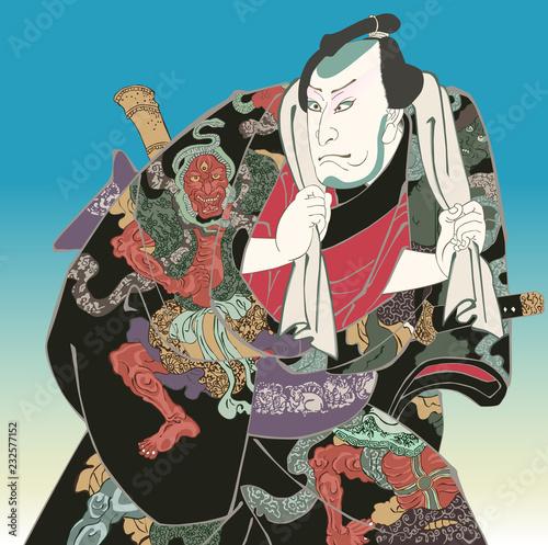 Wallpaper Mural 歌舞伎 達男氣性競 金神長五郎