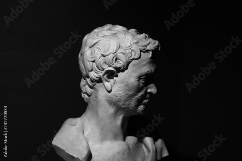 Photo Ancient bust of prophet Jeremiah by Donatello