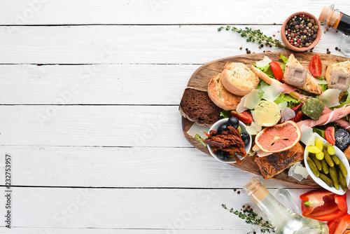 Fotografia, Obraz A set of food