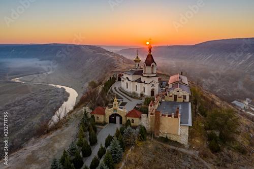 Sunrise at Old Orhei Monastery in Moldova Republic Fototapeta