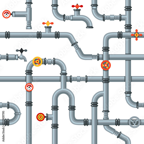 Tela Industrial pipes seamless pattern