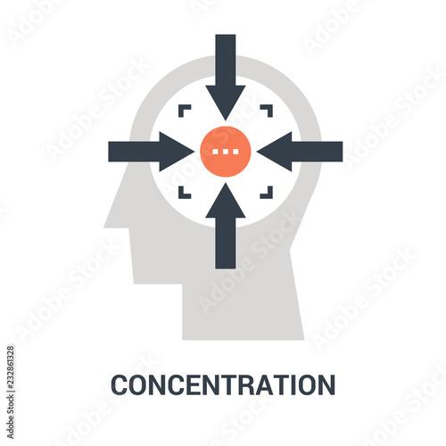 Cuadros en Lienzo concentration icon concept
