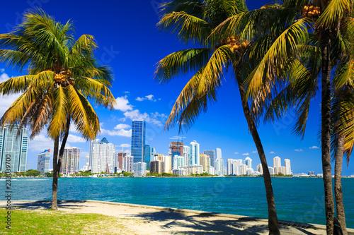 Fototapeta premium Widok na panoramę Miami na Florydzie