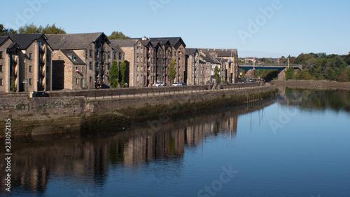 Obraz na plátně Lancaster Quay and River Lune