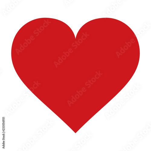 Red heart icon vector Fototapet