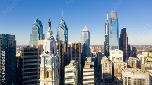 Obraz na plátně Urban Core City Center Tall Buildings Downtown Philadelphia Pennsylvania