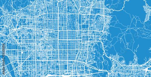 Wallpaper Mural Urban vector city map of Kyoto, Japan