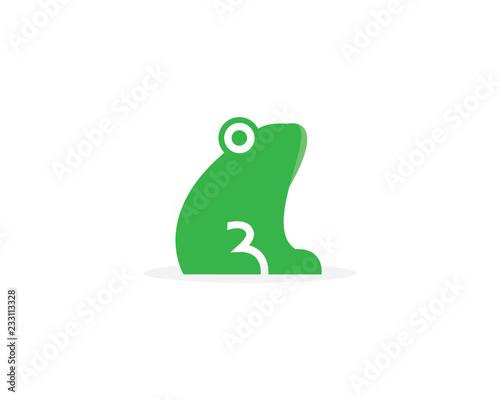 Fototapeta premium Frog Logo Template vector illustration