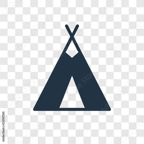 Obraz na płótnie Tipi vector icon isolated on transparent background, Tipi transparency logo desi