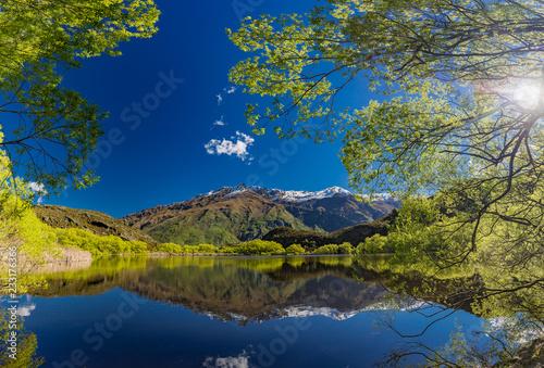 Diamond Lake in the Mt Aspiring National Park near Wanaka, New Zealand, Rocky Mountain