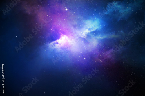 Canvas Print Night sky with stars and nebula