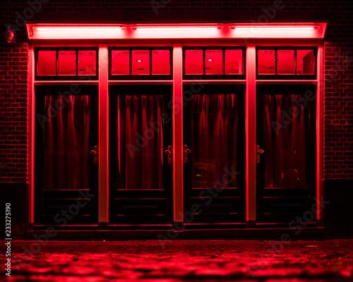 Vászonkép Red Light District in Amsterdam