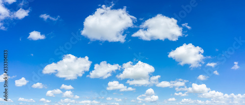 Canvas Print Beautiful blue sky and clouds natural background.