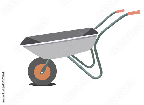 garden wheelbarrow, vector illustration Poster Mural XXL