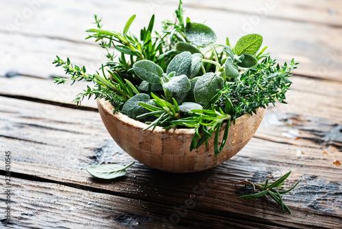 Mix of herbs Fototapet