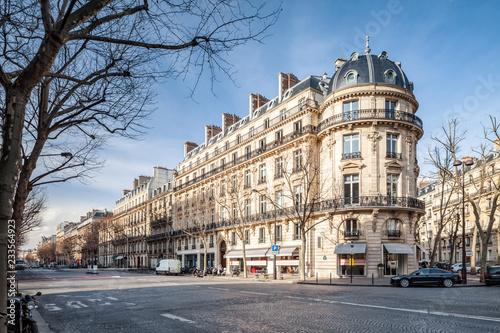 Canvas Boulevard Haussmann in Paris, Frankreich