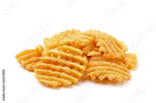 Photo Crispy potato waffles fries
