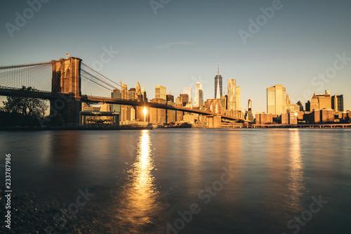 Fotografia New york city skyline with Brooklyn bridge