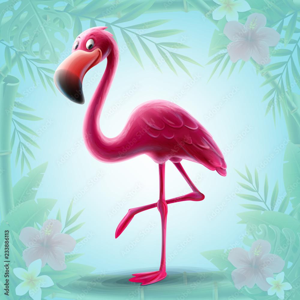 illustration of pink flamingo <span>plik: #233886113 | autor: mollicart</span>