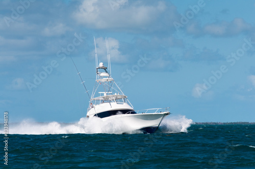 Fototapeta Sport Fishing Charter Boat in Florida Keys