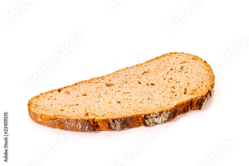 Canvas slice of bread isolated on white background