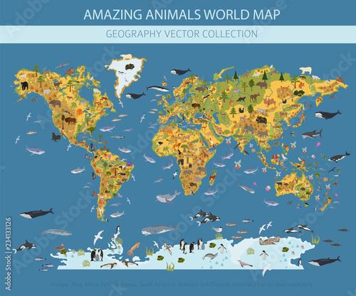 Plakat Mapa edukacyjna dla dzieci
