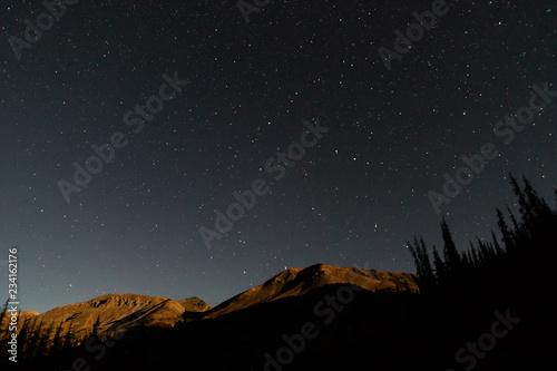 Wallpaper Mural Lunar alpenglow above the San Juan Mountains in Colorado