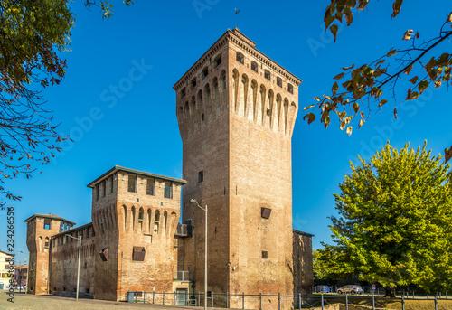 Carta da parati View at the Rocco fortress of Cento in Italy