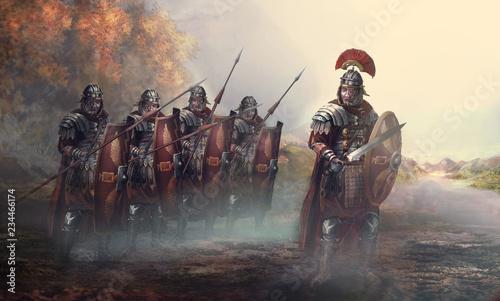 Obraz na płótnie Roman soldiers and their general