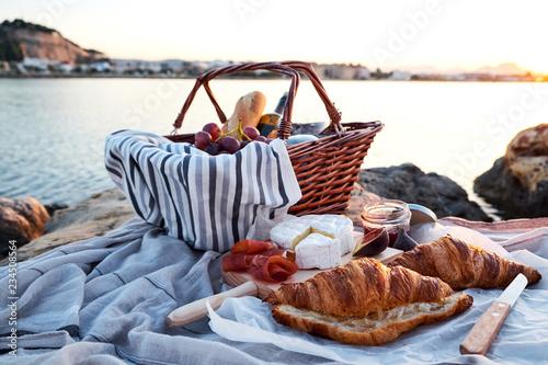 Romatic picnic on the beach