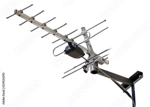 TV antenna isolated on white Fototapeta