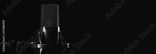 Fotografia Professional studio microphone isolated on black