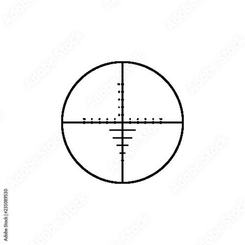 Fototapeta Military sniper rifle scope collimator sight icon.