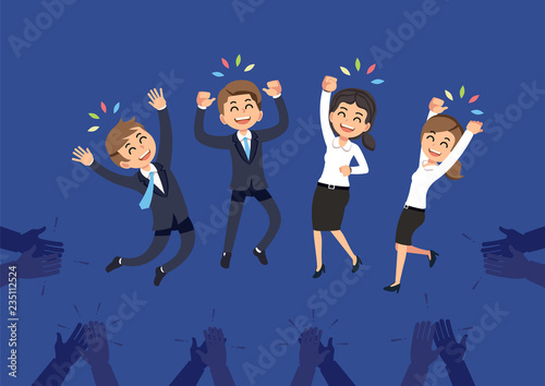 Canvas-taulu Congratulations to the successful employees