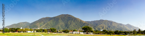 View of the iconic Caracas mountain el Avila or Waraira Repano. Caracas Venezuela.