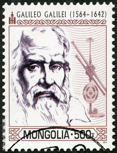 MONGOLIA - 2014: shows shows Galileo Galilei (1564-1642)