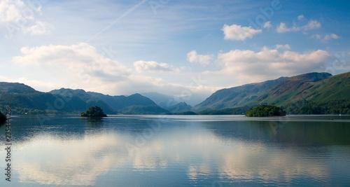 Fotografiet Derwent Water toward Borrowdale Valley, Lake District, Cumbria, England