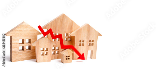 Valokuva a decline in property prices