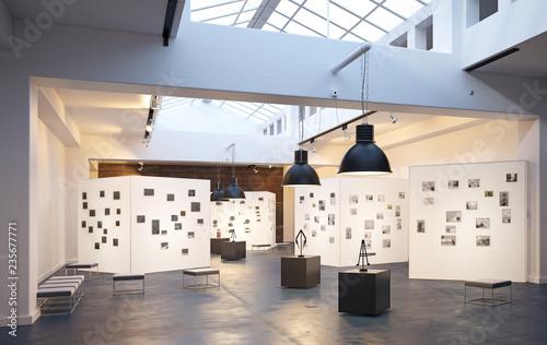 Fototapeta modern museum  interior