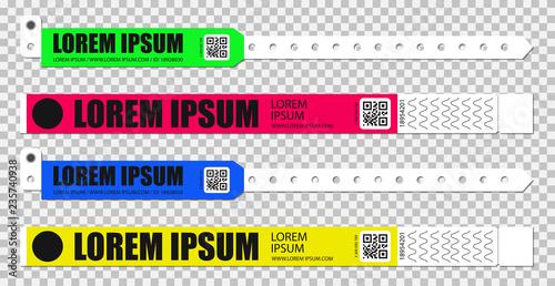 Fotografía Set of bracelets for entrance to the event
