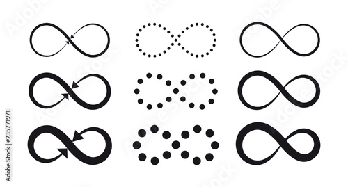 Fotografia Set of infinity symbols
