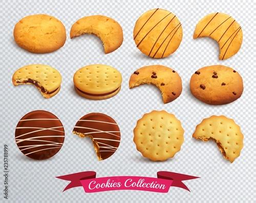 Vászonkép Cookies Transparent Set