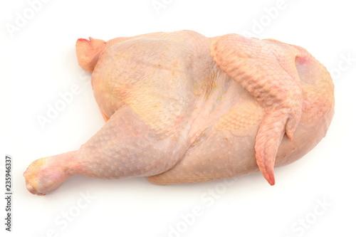 Fotografie, Obraz połowa kurczaka surowa