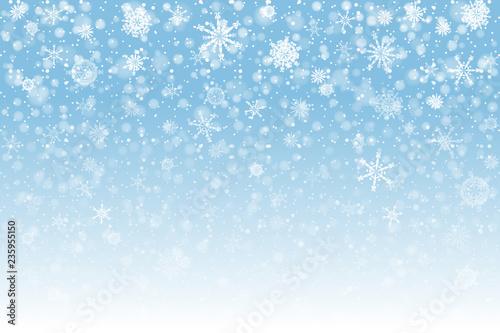 Fototapeta Christmas snow