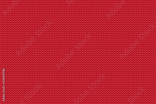 Seamless Christmas red knitted pattern. #236026786