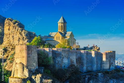 Photo View of Narikala fortress in Tbilisi, the capital of Georgia