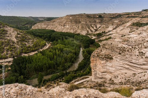 Canyon of the Jucar River on its way through Alcalá del Jucar